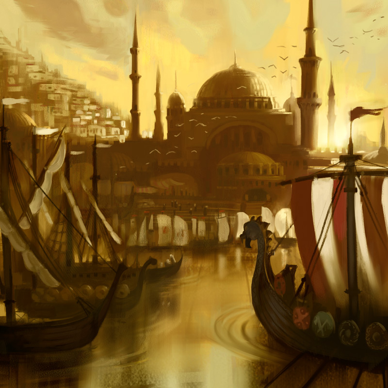 Vikings Arriving Constantinople